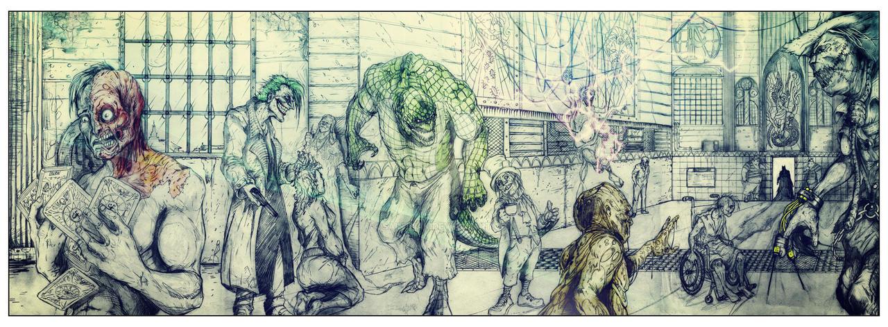 Arkham Asylum - Serious house on serious earth by SaintYak