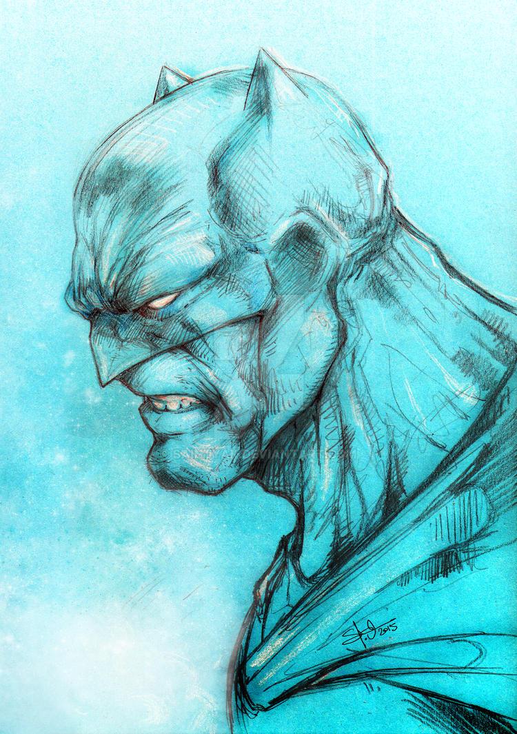 Bat in blue by SaintYak