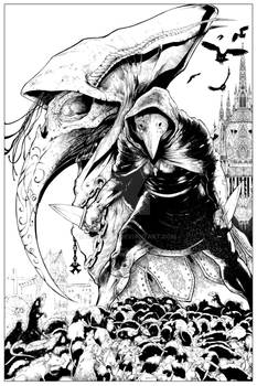 Plague Doctor Cover inked