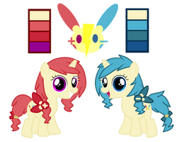 Ponymon Twins Adopts (CLOSED) by kurofa