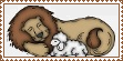 Lion and Lamb Stamp 2 by Pamela-Cullen