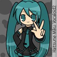 Miku says Peace by aristodemelugix