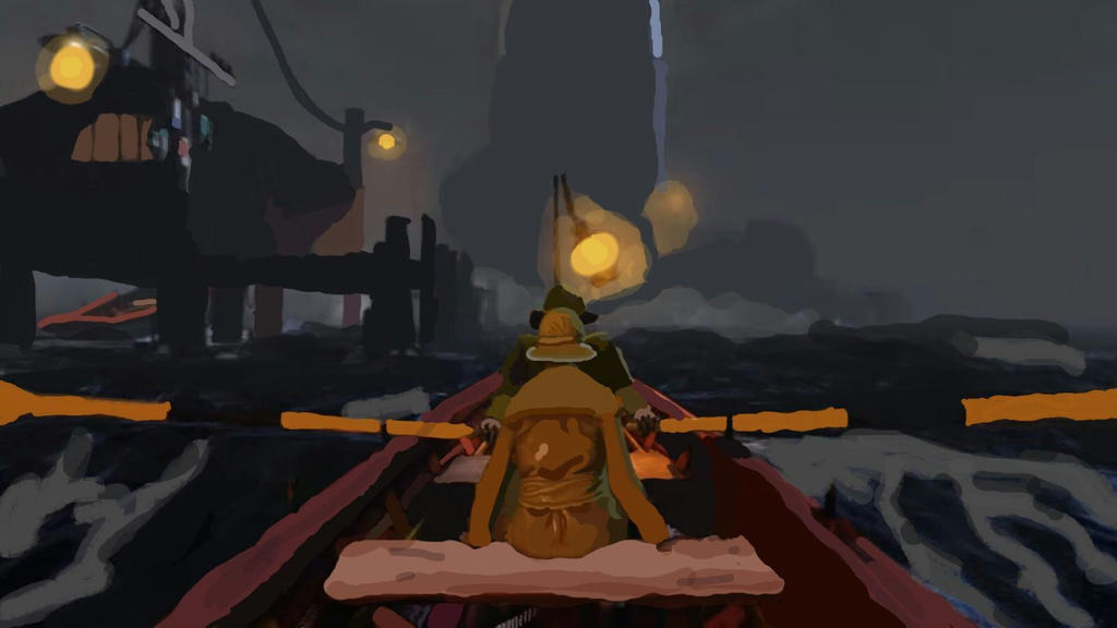 Bioshock Infinite boat scene by Cat of Oz by catofoz