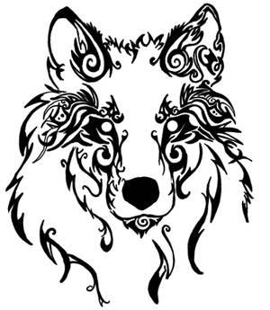 tribal wolf head