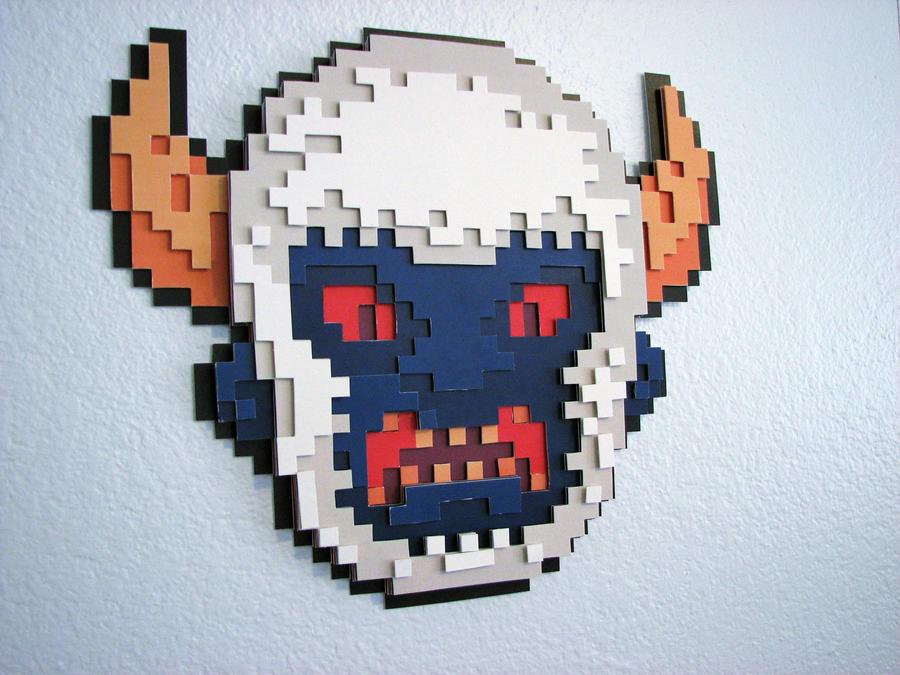 Yeti Pixel Papercraft by supahbuttahtoast
