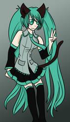 Request - Kitty Hatsune Miku by xXPixelTheDragonXx