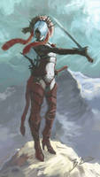 swordsman by BLACKBUBBLEZ