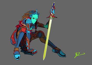 Ava samurai by BLACKBUBBLEZ