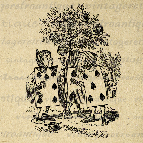 vintage clip art alice in wonderland - photo #37