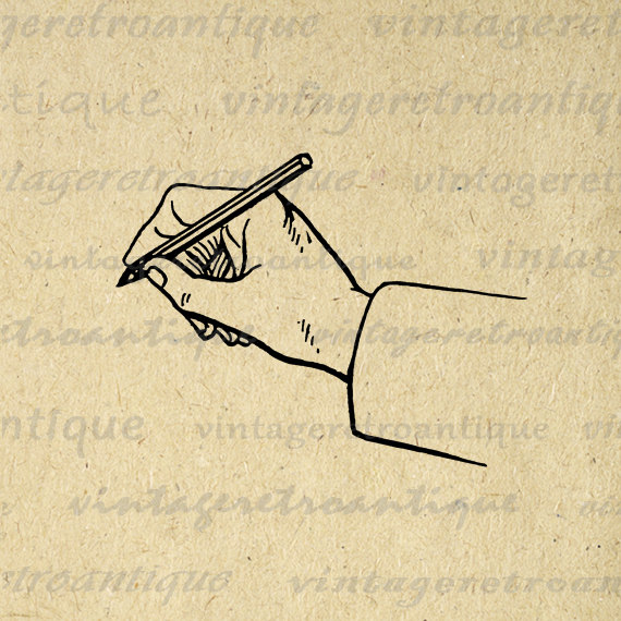 Hand Writing Digital Graphic No.377 by VintageRetroAntique on ...