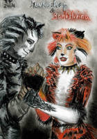 Munkustrap and Bombalurina by AngelFromHungary