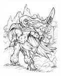 Mapuche warrior by ZeroCartoon