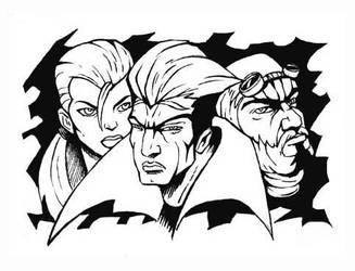 Trio choro. by ZeroCartoon
