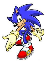 Sonic by ZeroCartoon