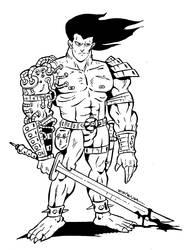 Warrior. by ZeroCartoon