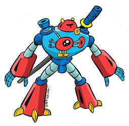 robot ninja by ZeroCartoon