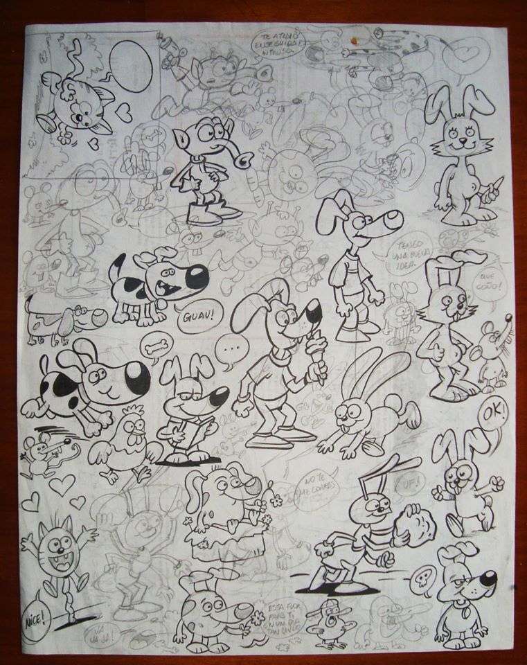Bocetos personajes.