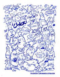 Bocetos personajes by ZeroCartoon