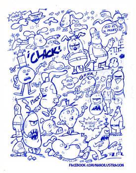 Bocetos personajes