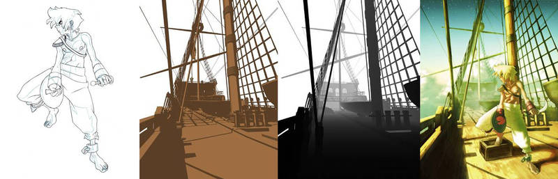 sky pirate 3d plate and depth