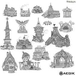 Sketches XIIII by Amanda-Kihlstrom