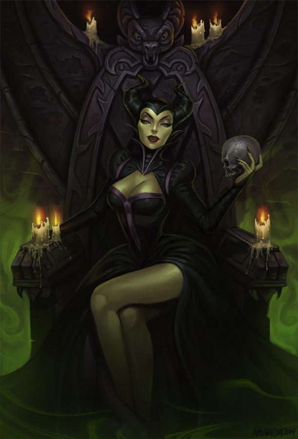 Maleficent fan art by Amanda-Kihlstrom