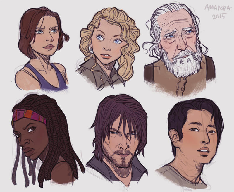 Walking dead fanart by Amanda-Kihlstrom