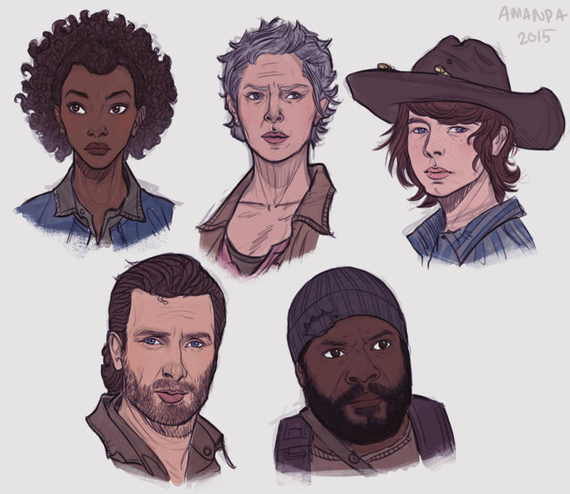 Walking Dead fanart pt. 2 by Amanda-Kihlstrom