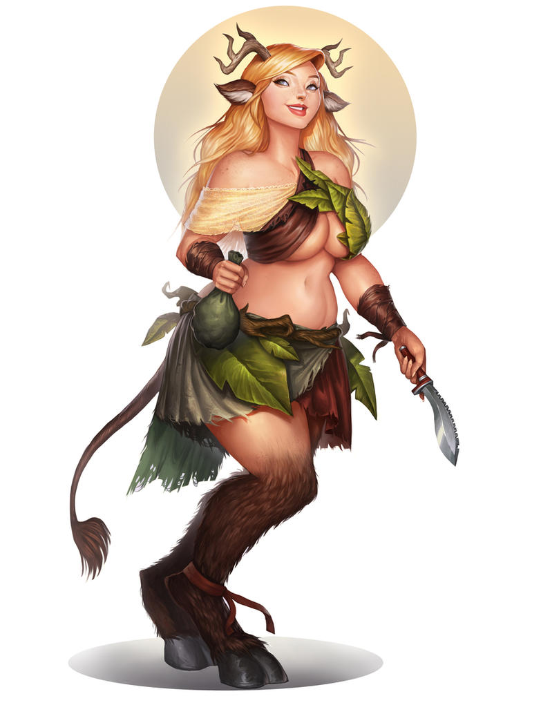 Commission: Faun girl by Amanda-Kihlstrom