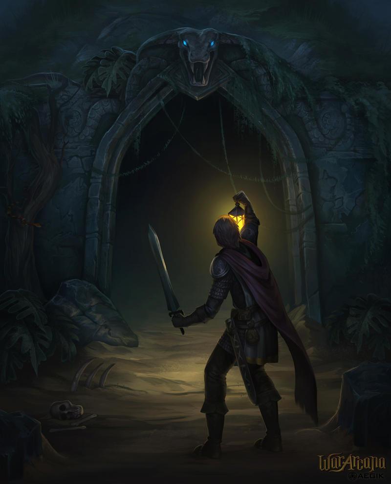 War Arcana: Cave explorer by Amanda-Kihlstrom