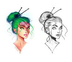 Color experiment 2 by Amanda-Kihlstrom