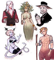 Halloween sketches by Amanda-Kihlstrom