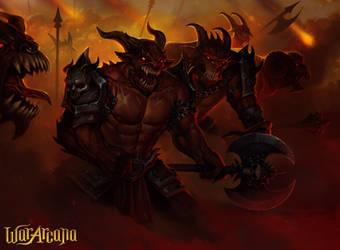 Demon army by Amanda-Kihlstrom