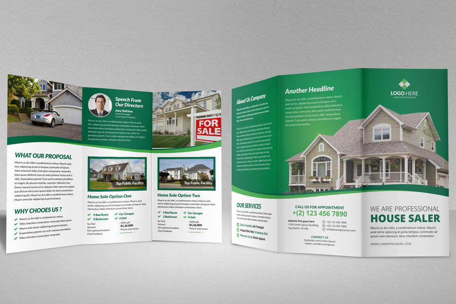 Property Sale Trifold Brochure By Jabinhossain ...  Home For Sale Brochure
