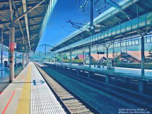 KARUIZAWA station (photomanipulation)