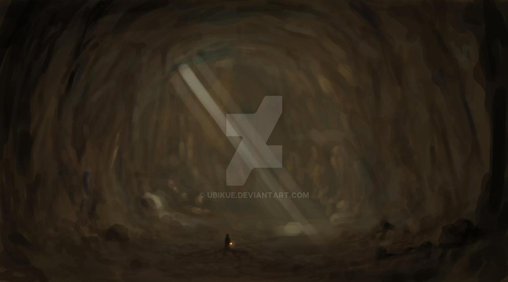 Luz en la cueva by ubikue
