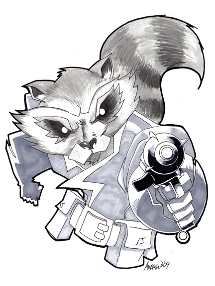 Rocket Raccoon by misfitcorner