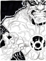 Red Lantern Hulk by misfitcorner