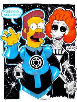 Blue Lantern Ned Flanders by misfitcorner