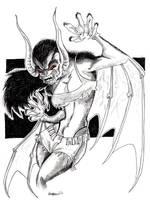 Lady Manbat by misfitcorner