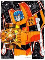 Orange Lantern Starscream by misfitcorner