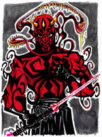 Darth Maul and Venom symbiote by misfitcorner