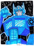 Blue Lantern Optimus Prime