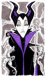 Sketch 056 of 100 MALEFICENT