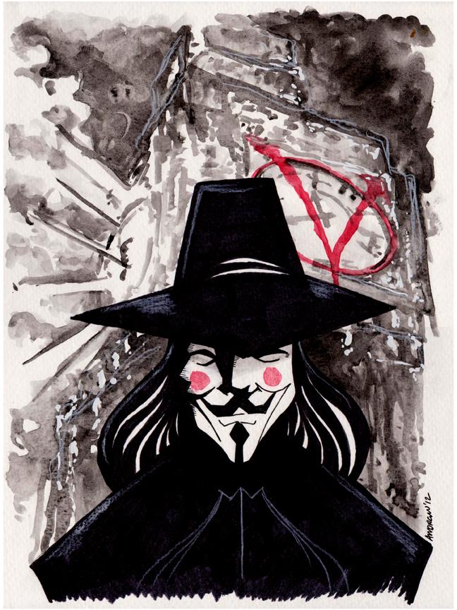 V For Vendetta fan art  Dope Visuals  Pinterest  Posts