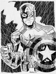 Sketch 078 of 100 CAPTAIN AMERICA by misfitcorner