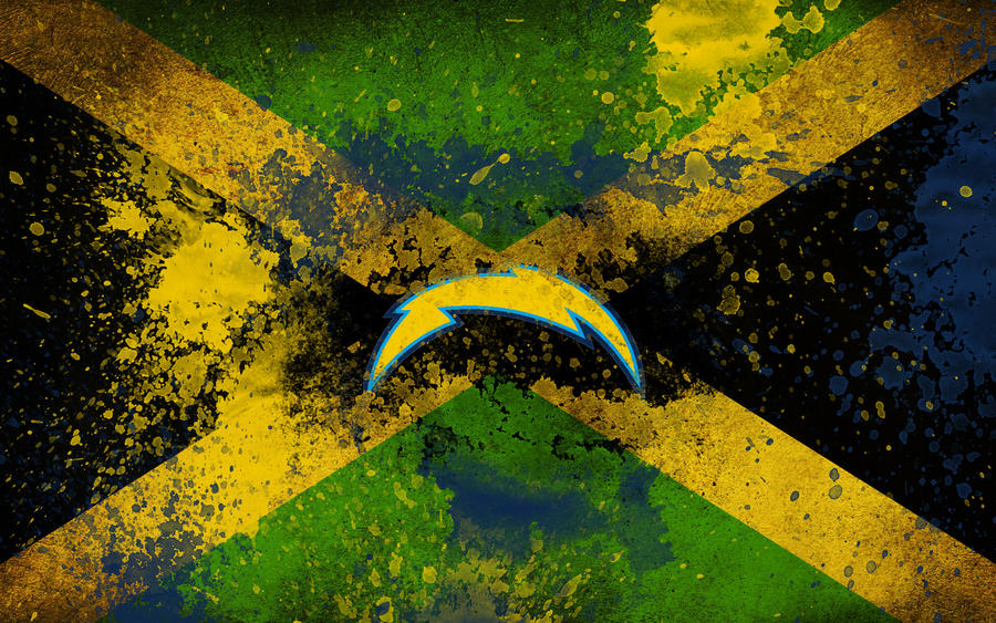 San Diego Chargers Jamaican Banner By Bluemoonexe On