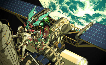 I am a spacecraft by hira-geco