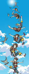Marie on skydiving by hira-geco