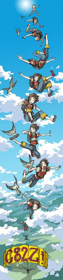 Marie on skydiving